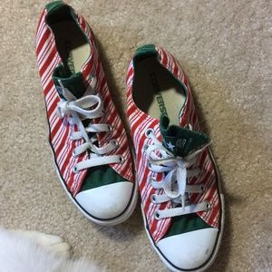 Converse Shoes - Converse Red & White Candy Cane Striped Shoes